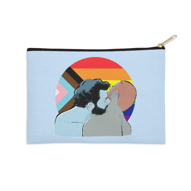 Love Pride Accessories Zip Pouch by Ego Rodriguez