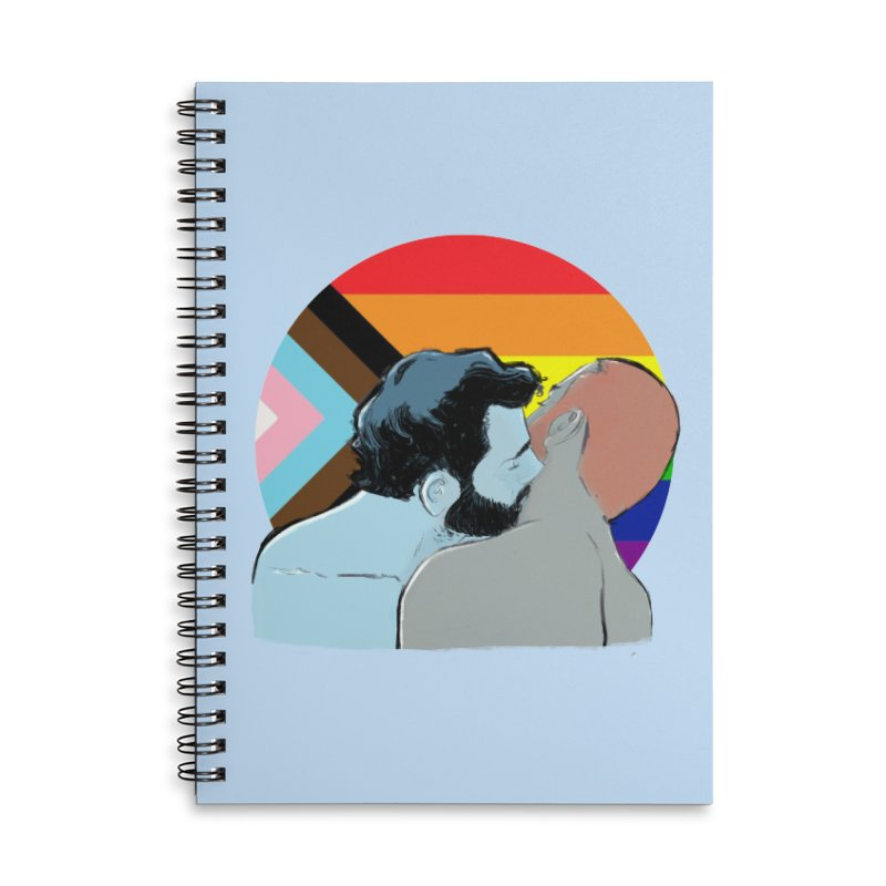 Love Pride Accessories Lined Spiral Notebook by Ego Rodriguez
