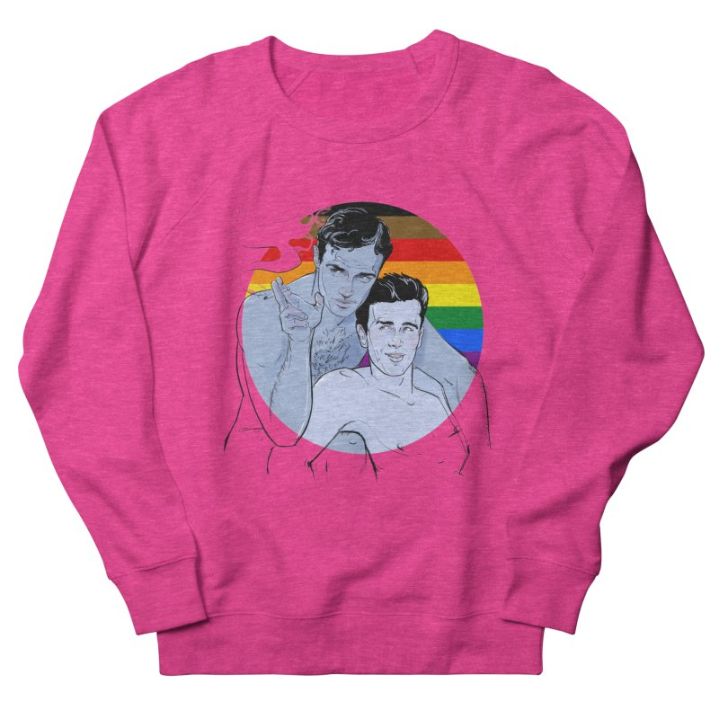 Dean + Brando Pride Men's French Terry Sweatshirt by Ego Rodriguez