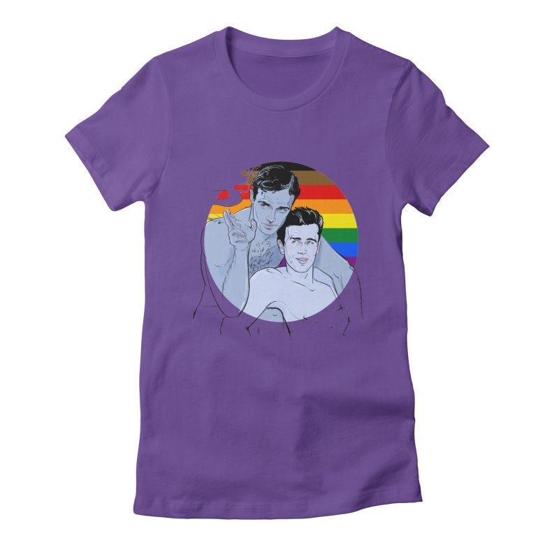Dean + Brando Pride Women's Fitted T-Shirt by Ego Rodriguez