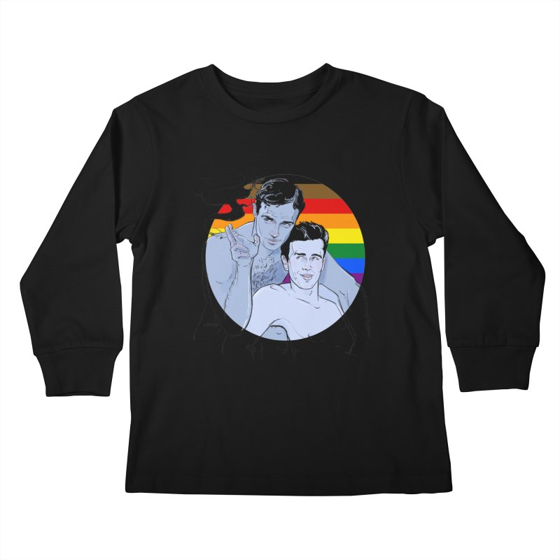 Dean + Brando Pride Kids Longsleeve T-Shirt by Ego Rodriguez
