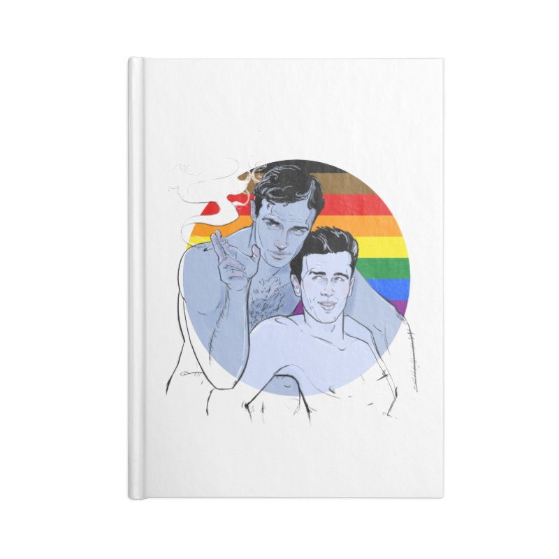 Dean + Brando Pride Accessories Lined Journal Notebook by Ego Rodriguez