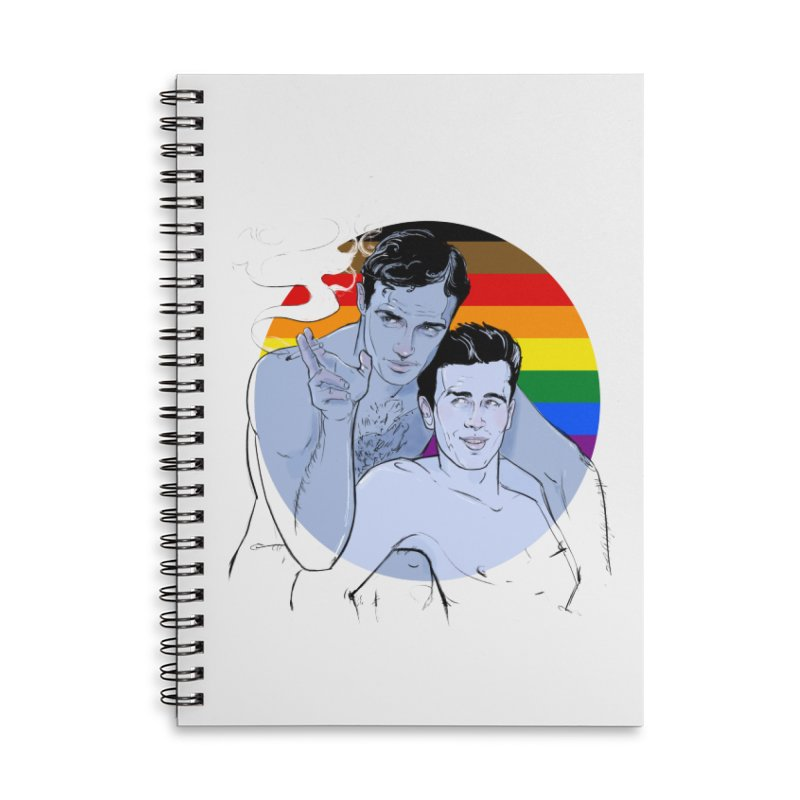 Dean + Brando Pride Accessories Lined Spiral Notebook by Ego Rodriguez