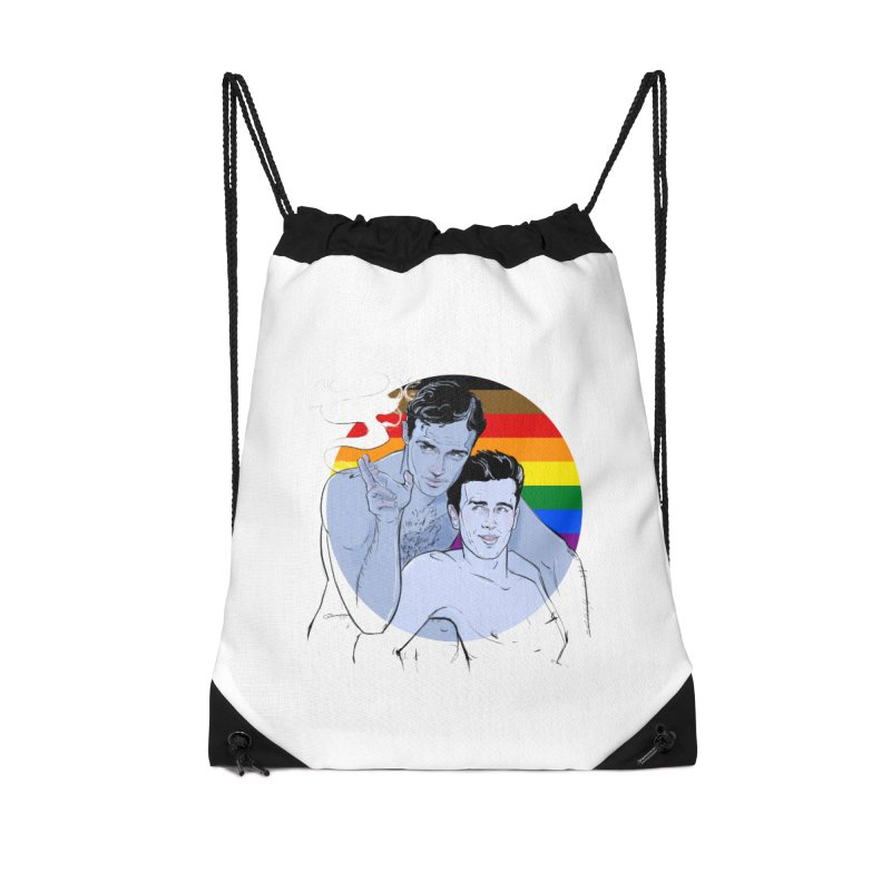 Dean + Brando Pride Accessories Drawstring Bag Bag by Ego Rodriguez