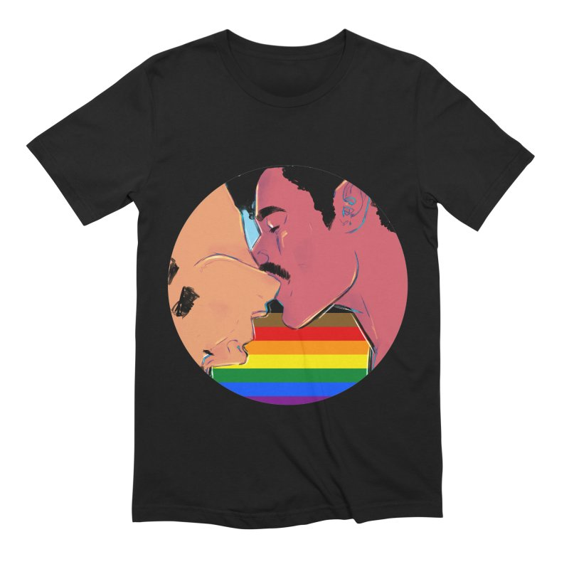 One Love Pride Men's Extra Soft T-Shirt by Ego Rodriguez