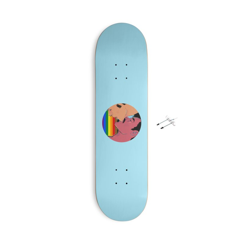 One Love Pride Accessories With Hanging Hardware Skateboard by Ego Rodriguez