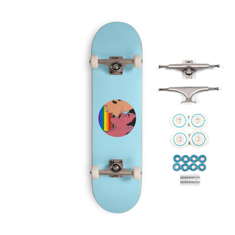 One Love Pride Accessories Complete - Basic Skateboard by Ego Rodriguez