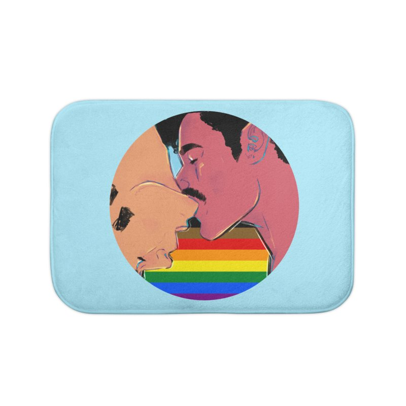 One Love Pride Home Bath Mat by Ego Rodriguez