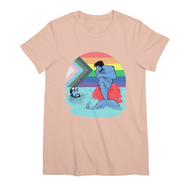 Mer Love Pride Women's Premium T-Shirt by Ego Rodriguez