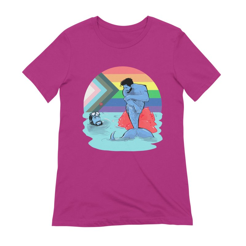 Mer Love Pride Women's Extra Soft T-Shirt by Ego Rodriguez