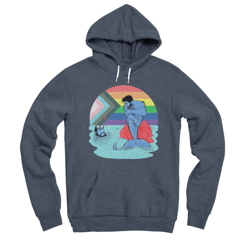 Mer Love Pride Men's Sponge Fleece Pullover Hoody by Ego Rodriguez
