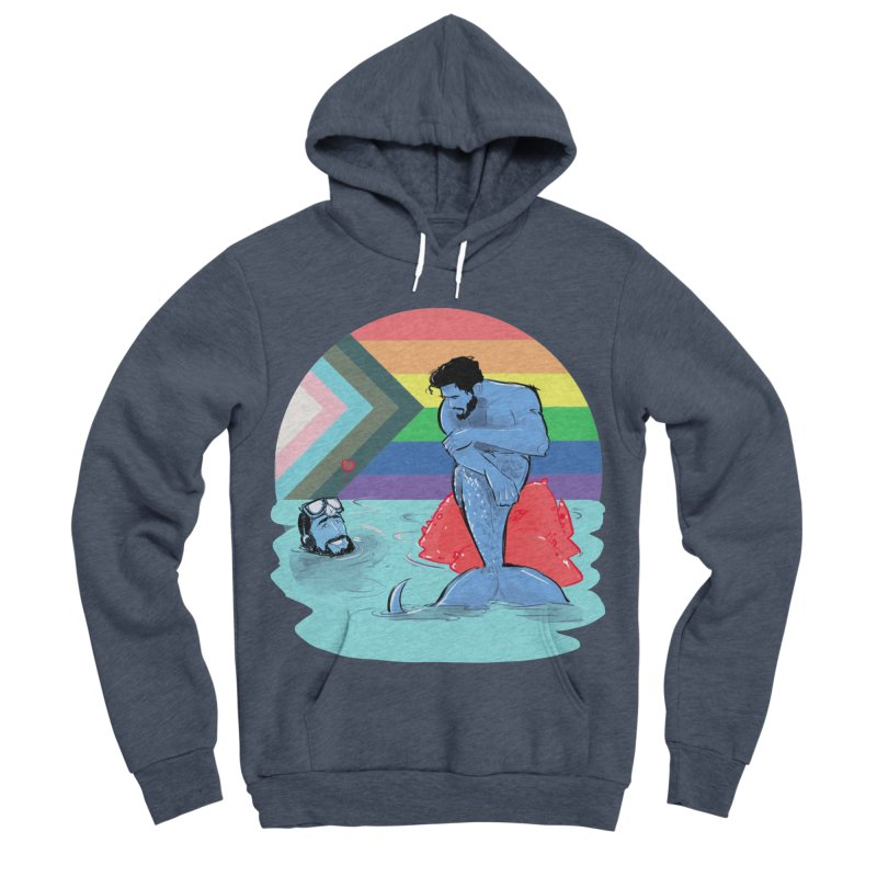 Mer Love Pride Women's Sponge Fleece Pullover Hoody by Ego Rodriguez