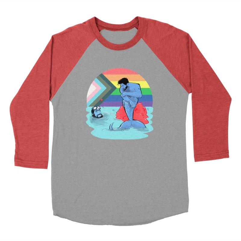Mer Love Pride Women's Baseball Triblend Longsleeve T-Shirt by Ego Rodriguez