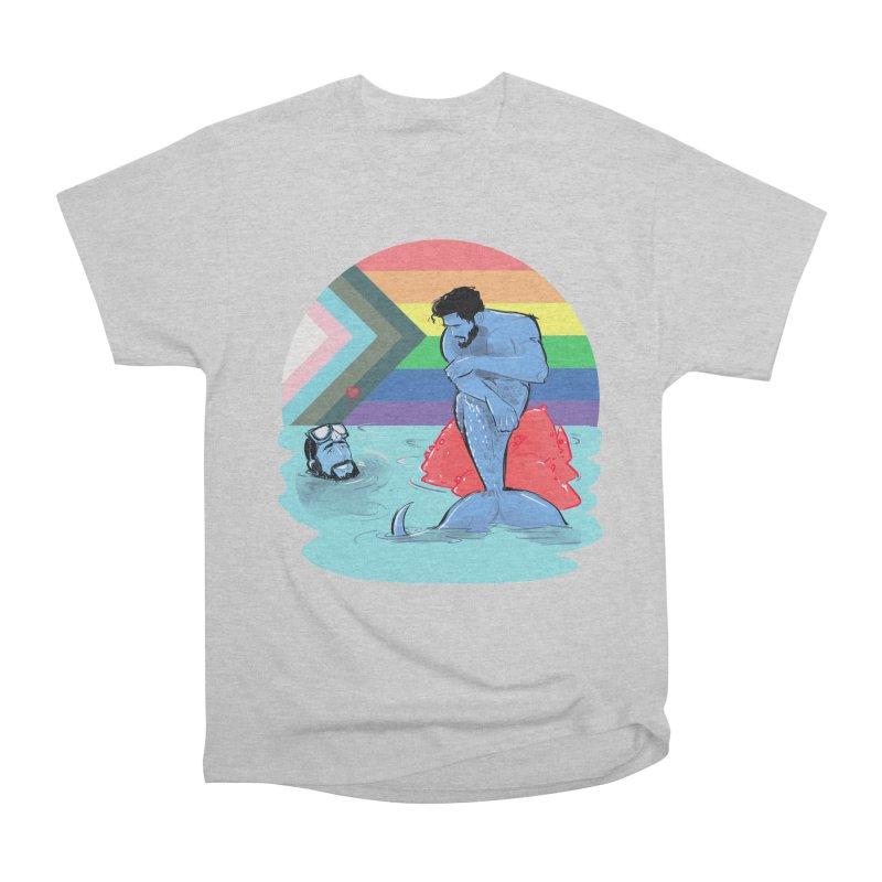 Mer Love Pride Women's Heavyweight Unisex T-Shirt by Ego Rodriguez