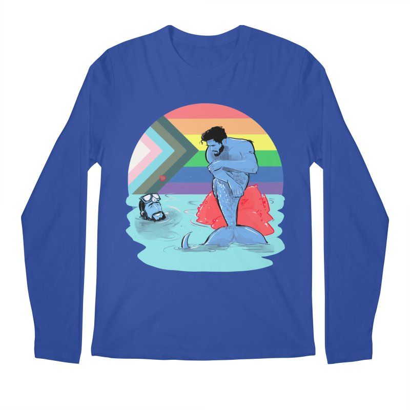 Mer Love Pride Men's Regular Longsleeve T-Shirt by Ego Rodriguez
