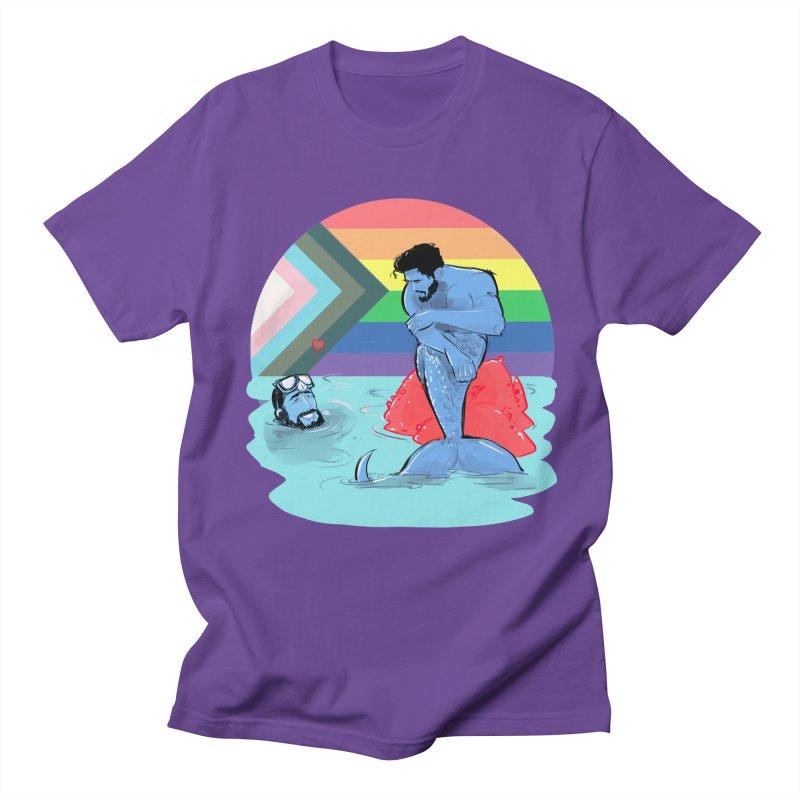 Mer Love Pride Men's Regular T-Shirt by Ego Rodriguez