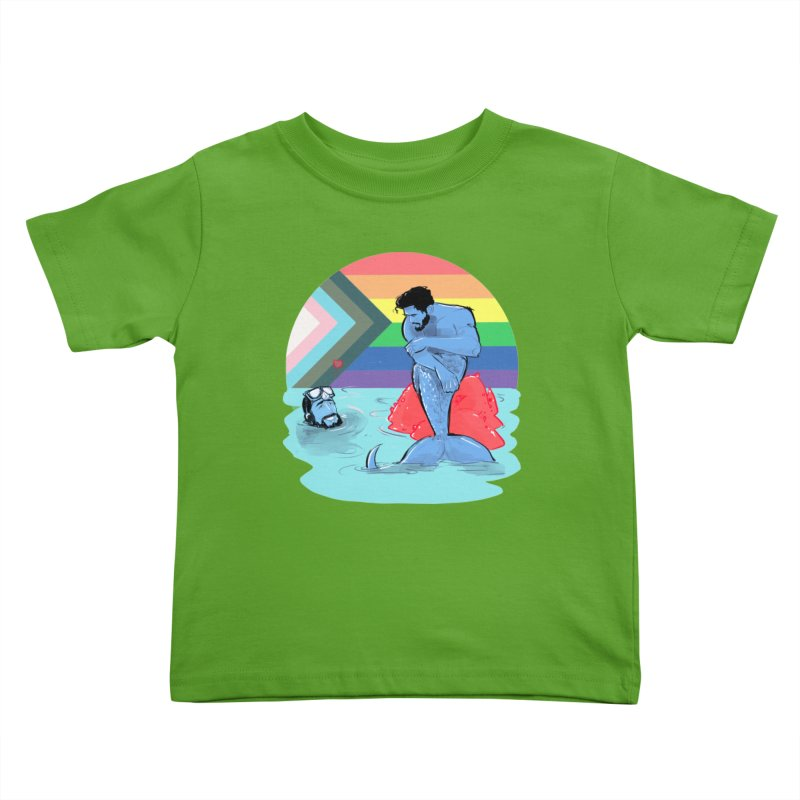 Mer Love Pride Kids Toddler T-Shirt by Ego Rodriguez