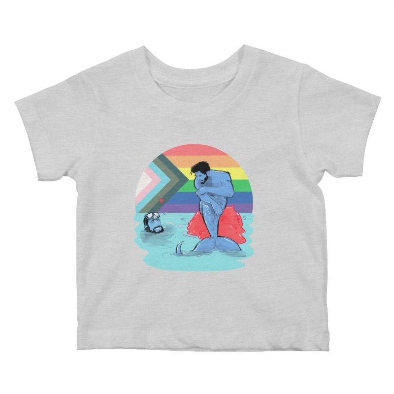 Mer Love Pride Kids Baby T-Shirt by Ego Rodriguez