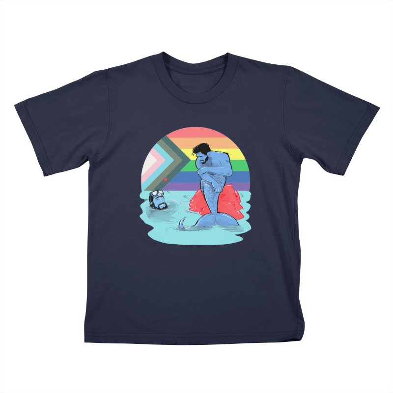 Mer Love Pride Kids T-Shirt by Ego Rodriguez