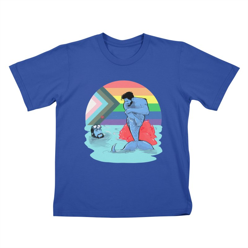Mer Love Pride Kids T-Shirt by Ego Rodriguez