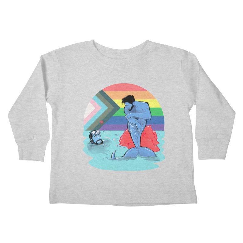 Mer Love Pride Kids Toddler Longsleeve T-Shirt by Ego Rodriguez