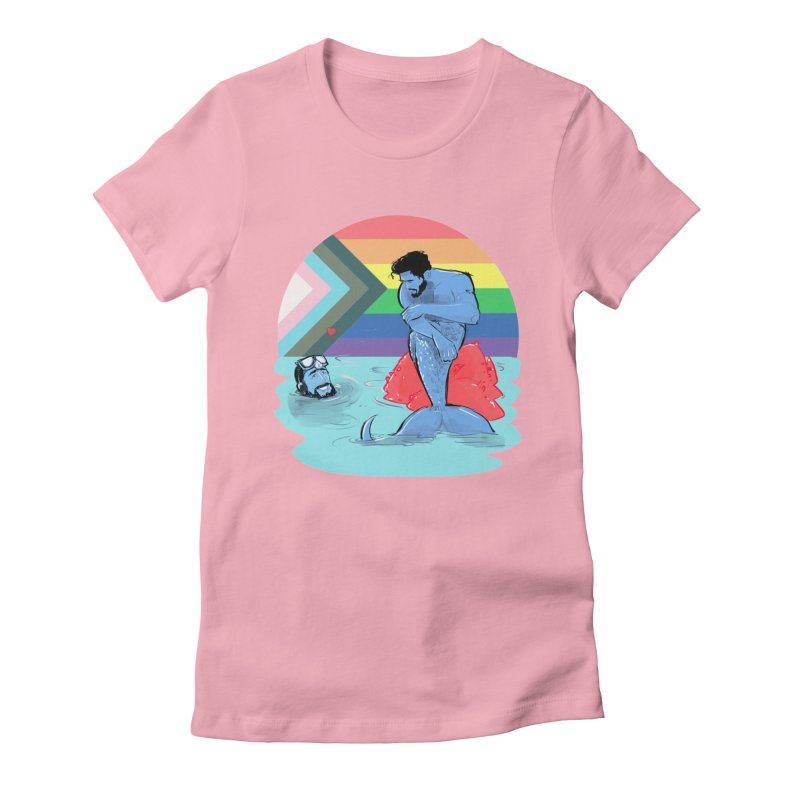 Mer Love Pride Women's Fitted T-Shirt by Ego Rodriguez