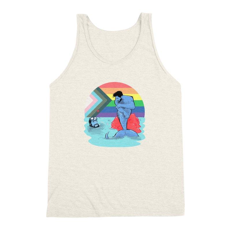Mer Love Pride Men's Triblend Tank by Ego Rodriguez
