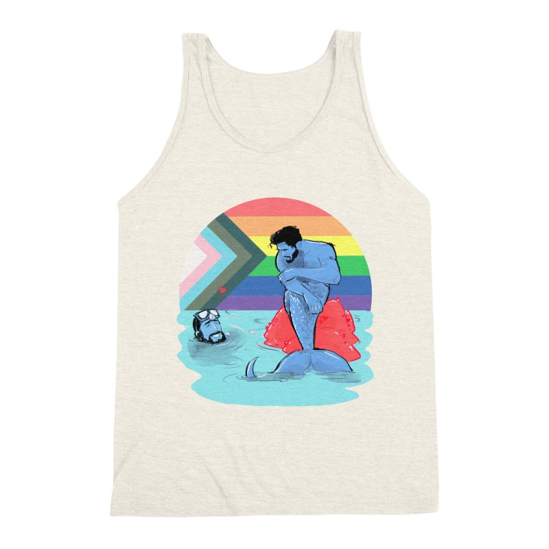 Mer Love Pride Men's Triblend Tank by Ego Rodriguez