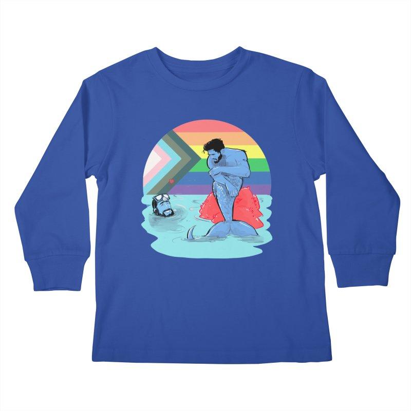 Mer Love Pride Kids Longsleeve T-Shirt by Ego Rodriguez