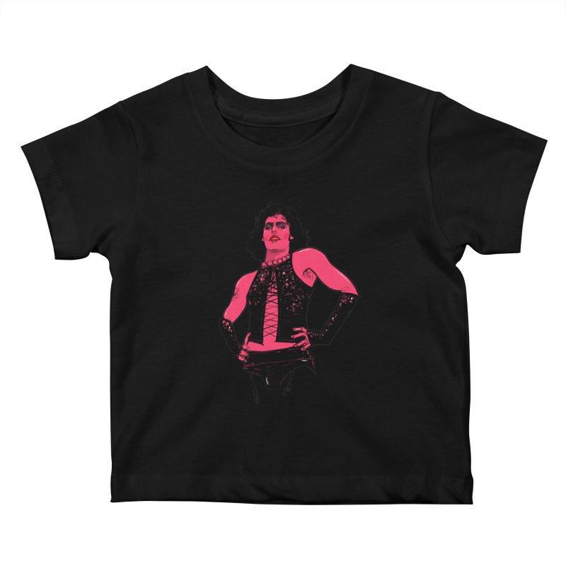 Frank N Furter Kids Baby T-Shirt by Ego Rodriguez