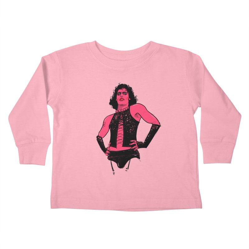 Frank N Furter Kids Toddler Longsleeve T-Shirt by Ego Rodriguez