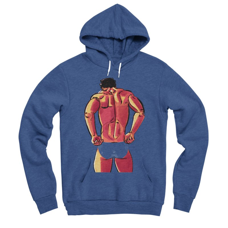 Adjusting Men's Sponge Fleece Pullover Hoody by Ego Rodriguez
