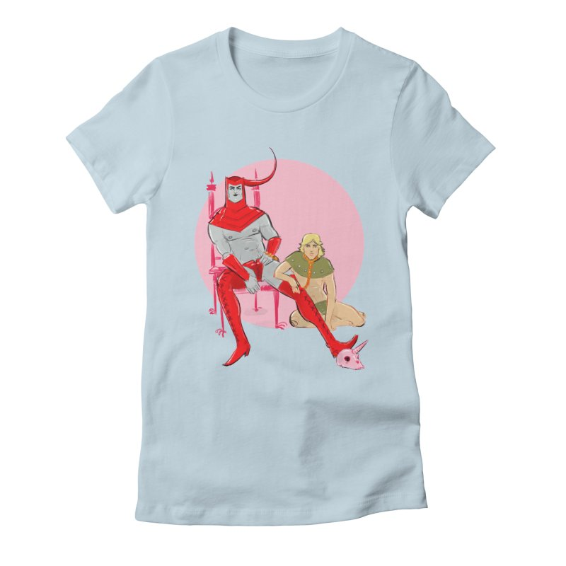 Dungeons Women's Fitted T-Shirt by Ego Rodriguez
