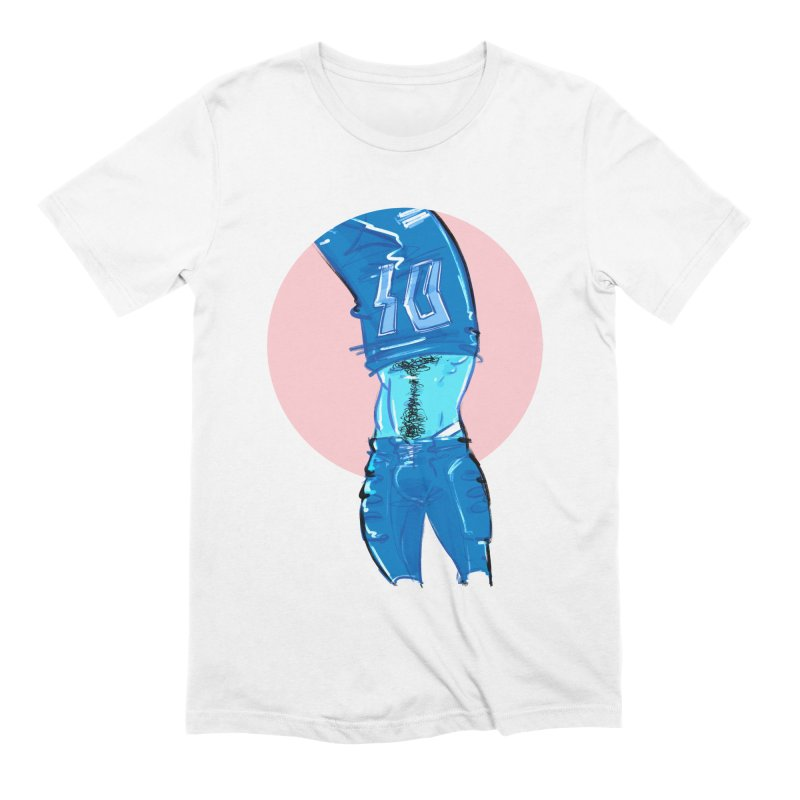 Football Men's Extra Soft T-Shirt by Ego Rodriguez