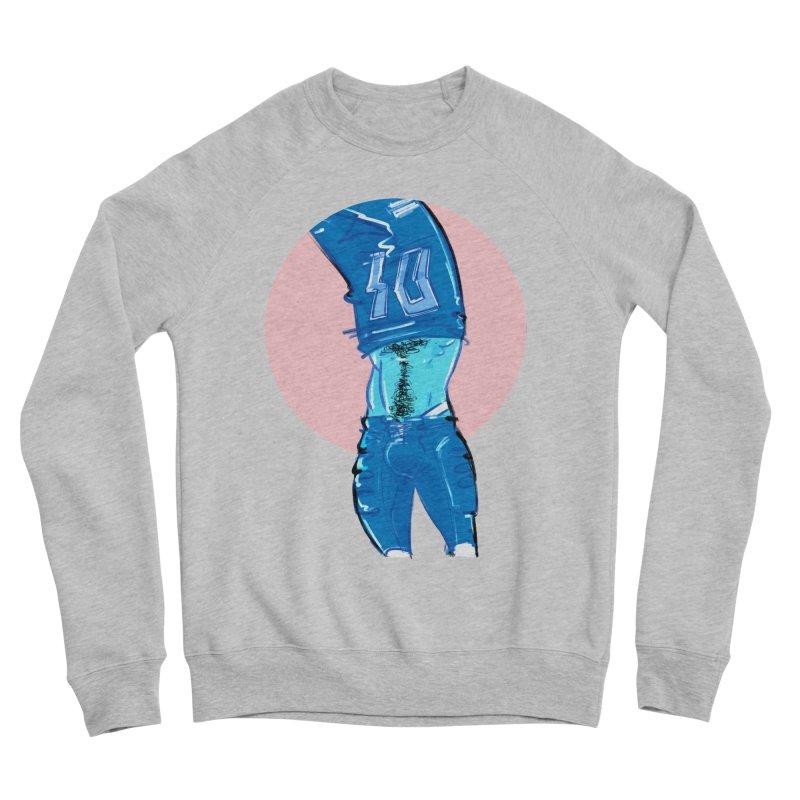 Football Men's Sponge Fleece Sweatshirt by Ego Rodriguez