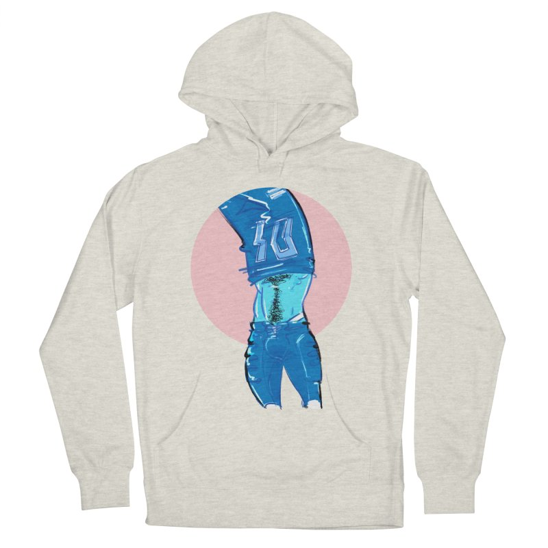 Football Men's French Terry Pullover Hoody by Ego Rodriguez