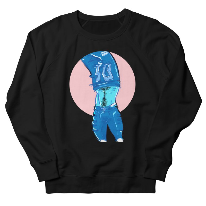 Football Men's French Terry Sweatshirt by Ego Rodriguez