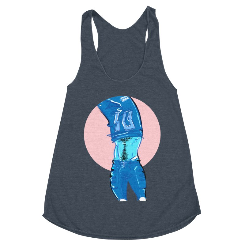 Football Women's Racerback Triblend Tank by Ego Rodriguez