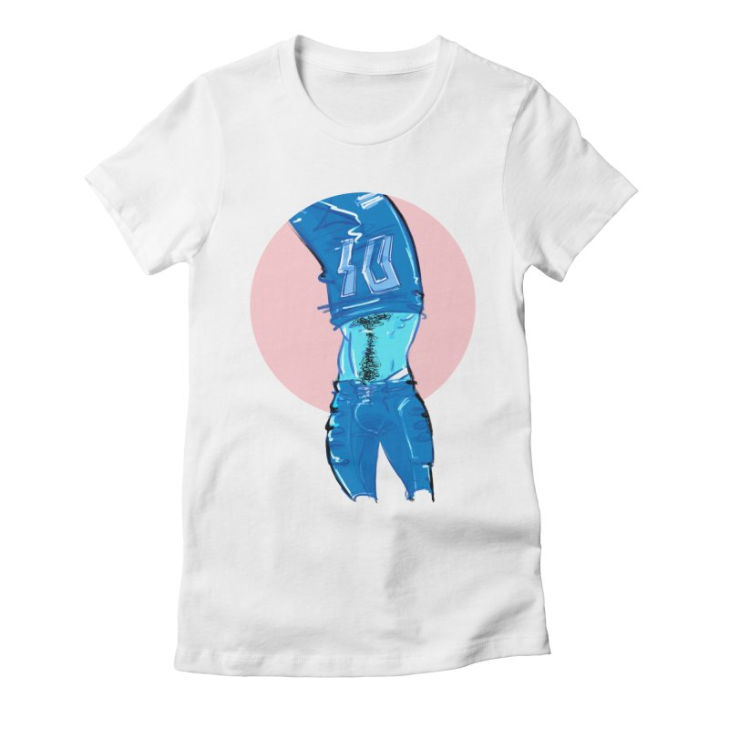 Football Women's Fitted T-Shirt by Ego Rodriguez