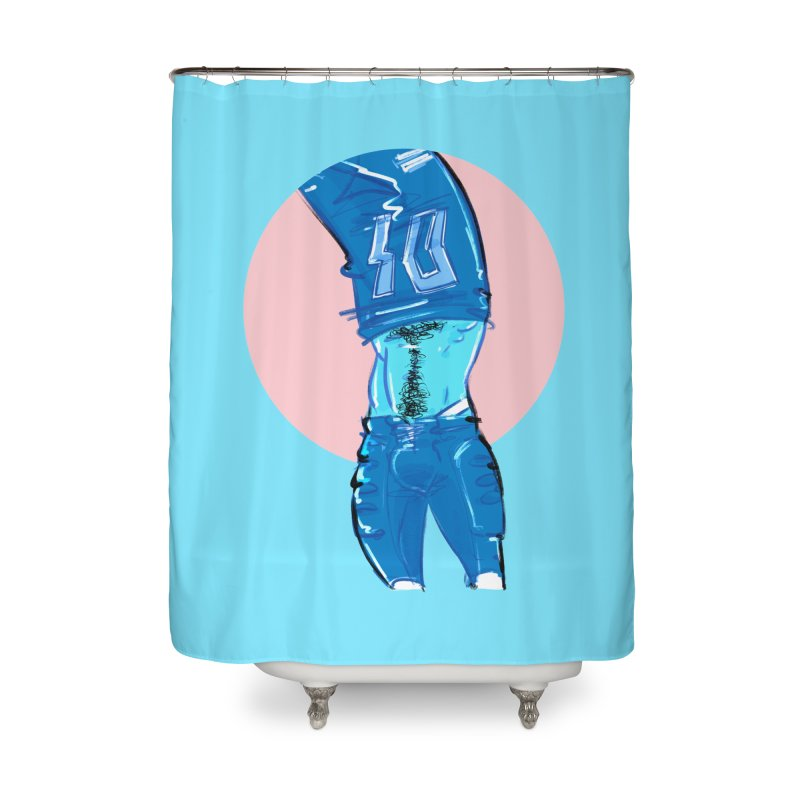 Football Home Shower Curtain by Ego Rodriguez