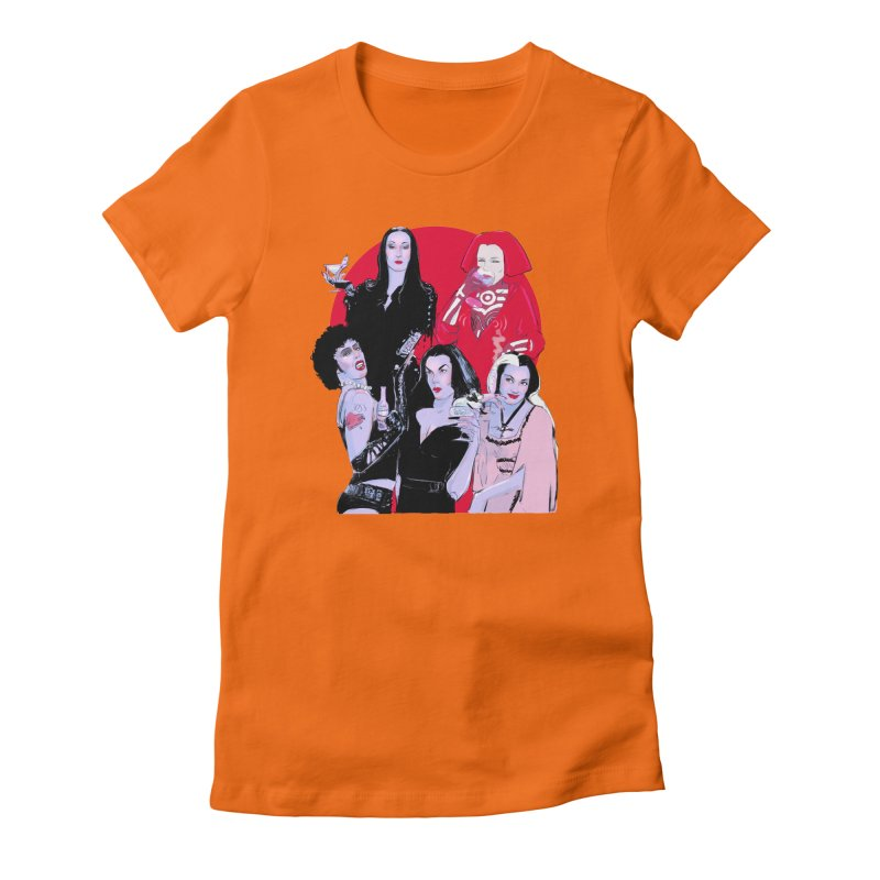 Ghouls Nite Out Women's Fitted T-Shirt by Ego Rodriguez