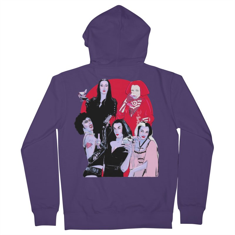 Ghouls Nite Out Women's French Terry Zip-Up Hoody by Ego Rodriguez