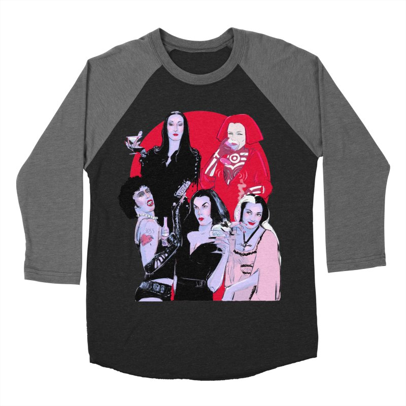 Ghouls Nite Out Men's Baseball Triblend Longsleeve T-Shirt by Ego Rodriguez