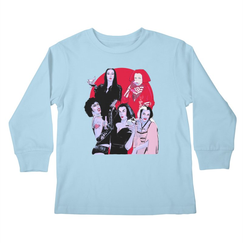 Ghouls Nite Out Kids Longsleeve T-Shirt by Ego Rodriguez