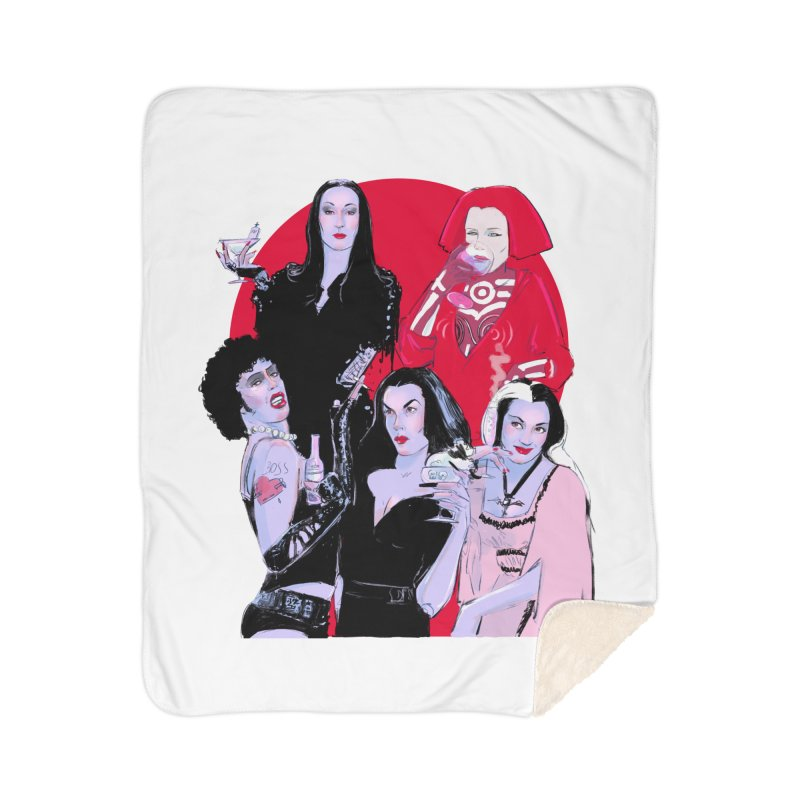 Ghouls Nite Out Home Sherpa Blanket Blanket by Ego Rodriguez