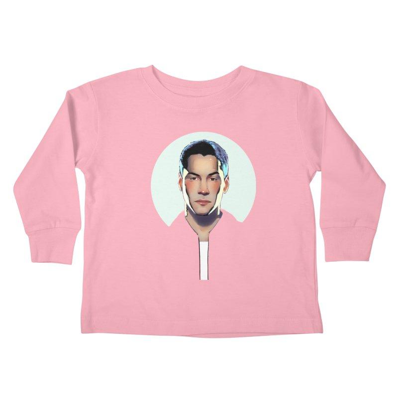 Keanu Kids Toddler Longsleeve T-Shirt by Ego Rodriguez