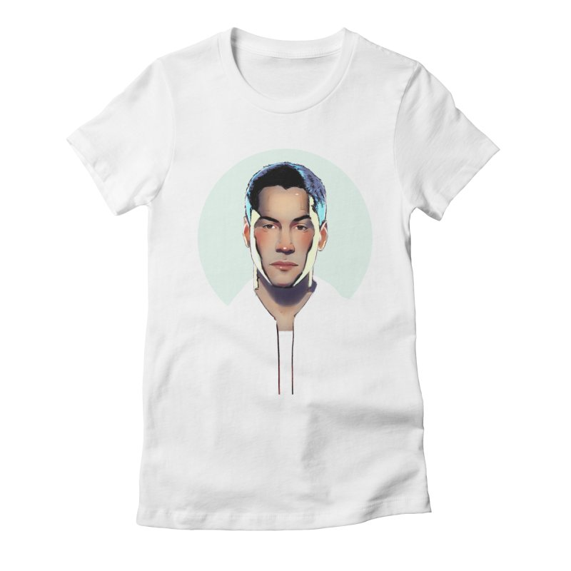 Keanu Women's Fitted T-Shirt by Ego Rodriguez