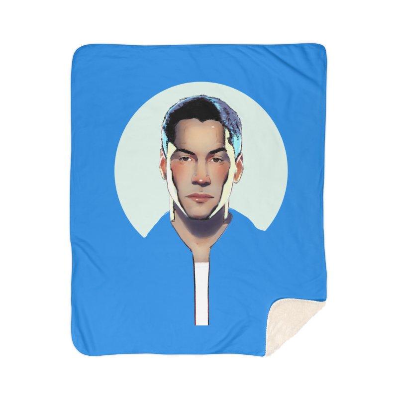 Keanu Home Sherpa Blanket Blanket by Ego Rodriguez