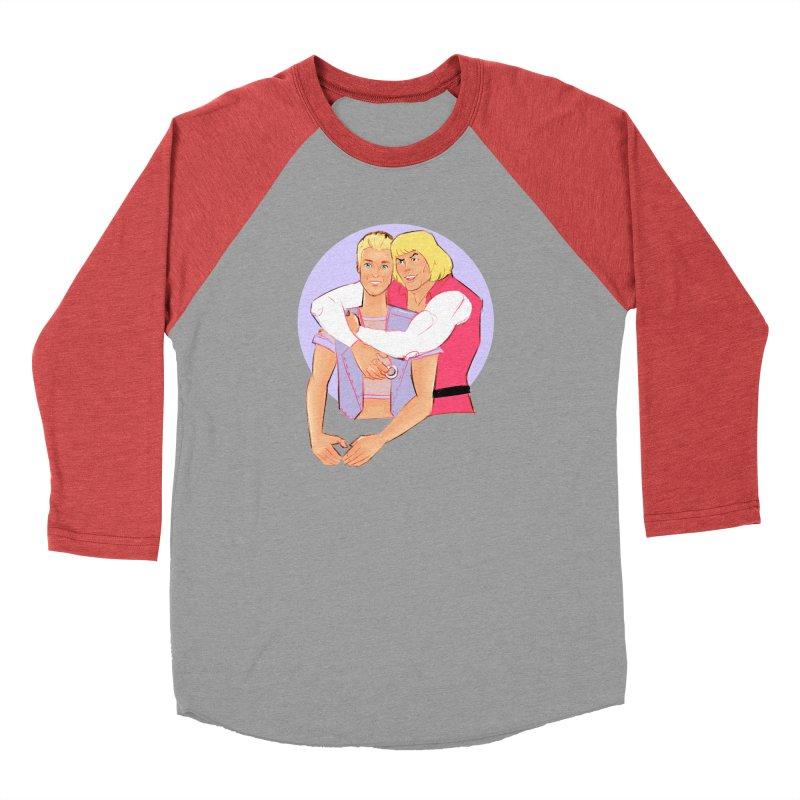 Ken + Adam Women's Baseball Triblend Longsleeve T-Shirt by Ego Rodriguez
