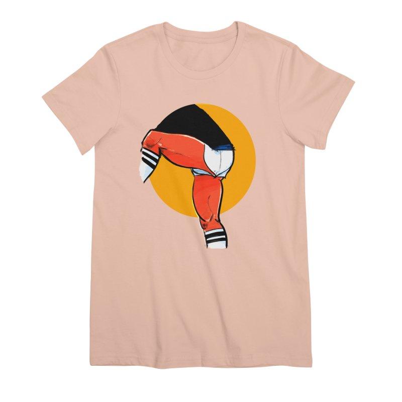 Laces Women's Premium T-Shirt by Ego Rodriguez